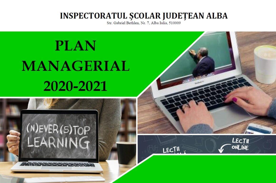 Planul managerial al Inspectoratului Școlar Județean Alba – An școlar 2020-2021